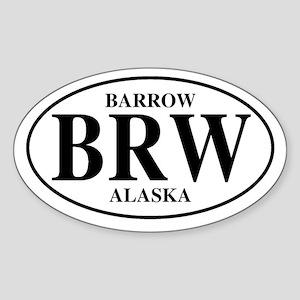 Barrow Oval Sticker