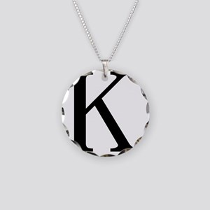 kappa Necklace Circle Charm