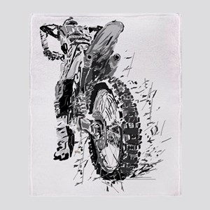 Motor Cross Throw Blanket