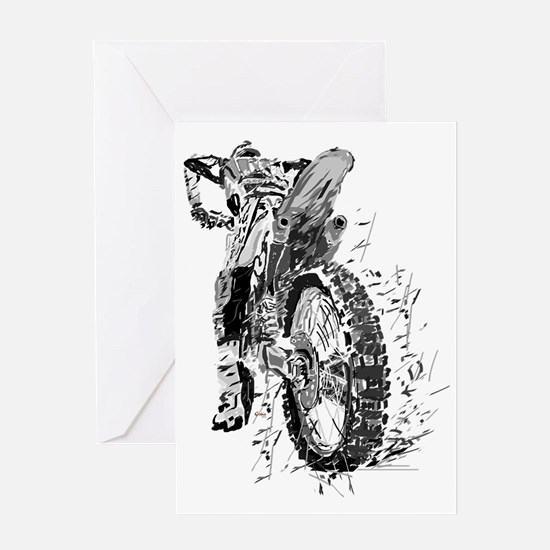 Motor Cross Greeting Card