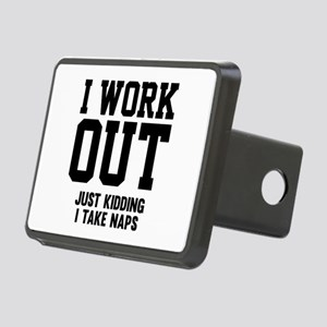 I Work Out Rectangular Hitch Cover