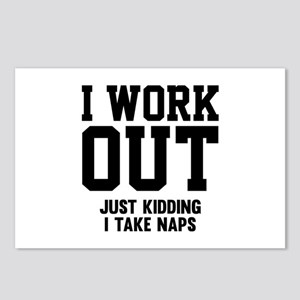 I Work Out Postcards (Package of 8)