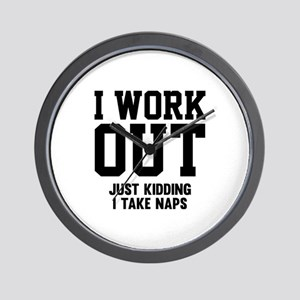 I Work Out Wall Clock