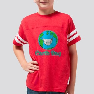 earthday1_blk Youth Football Shirt