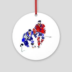Ice Hockey Round Ornament