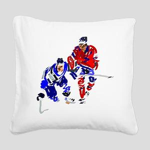 Ice Hockey Square Canvas Pillow
