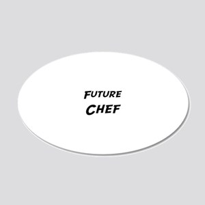 Chef 20x12 Oval Wall Decal