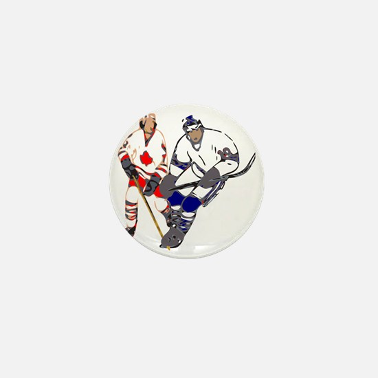 Ice Hockey Mini Button