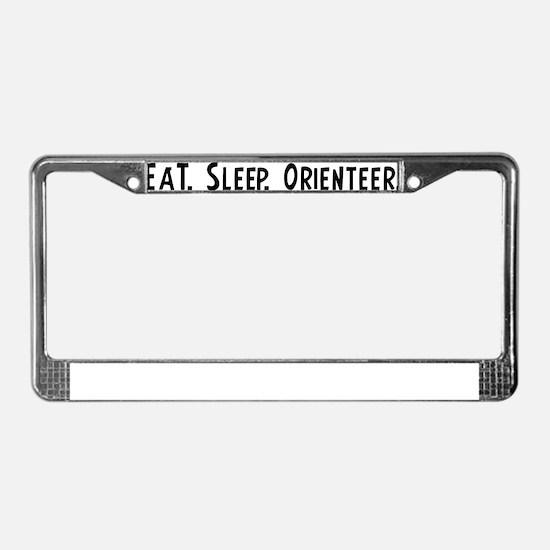 Orienteer. License Plate Frame
