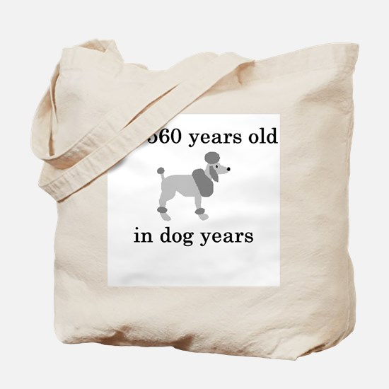 80 birthday dog years poodle Tote Bag