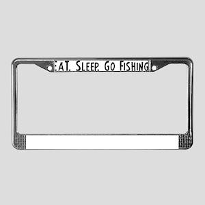 Go Fishing. License Plate Frame