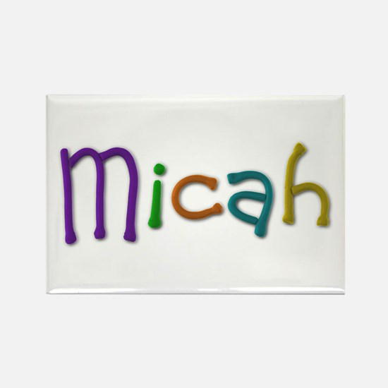 Micah Play Clay Rectangle Magnet 100 Pack