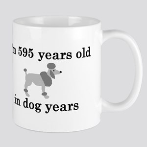 85 birthday dog years poodle 2 Mug