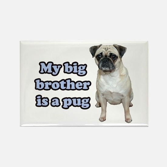 Big Brother Pug Rectangle Magnet
