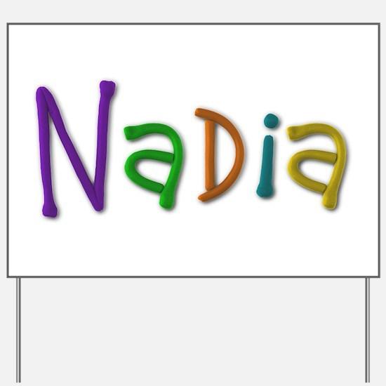 Nadia Play Clay Yard Sign