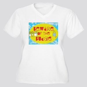 Beware of the Budgie Women's Plus Size V-Neck T-Sh