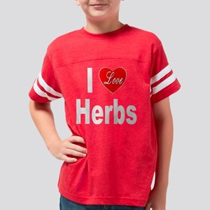 ILoveHerbs10x10Trans Youth Football Shirt