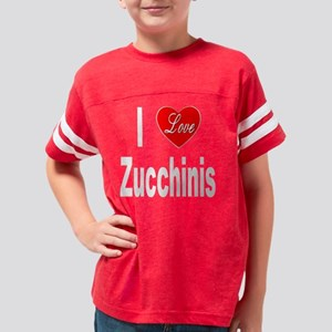 ILoveZucchinis10x10Trans Youth Football Shirt