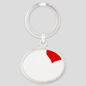 Fox Oval Keychain