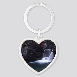 Glacier National Park Heart Keychain