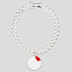 Christy-black Charm Bracelet, One Charm
