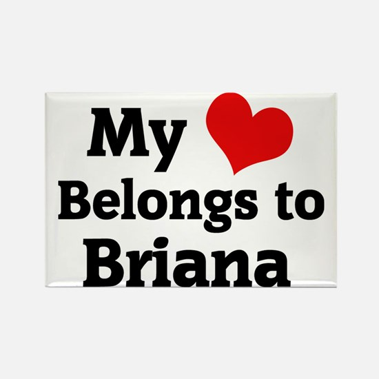 Briana Rectangle Magnet