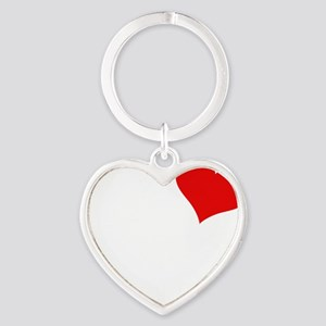 Bella-black Heart Keychain