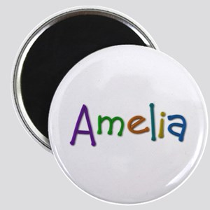 Amelia Play Clay Round Magnet