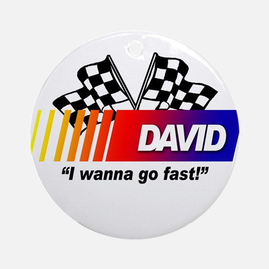 Racing - David Ornament (Round)