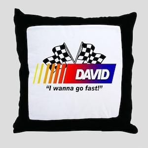 Racing - David Throw Pillow