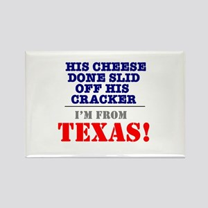 HIS CHEESE DONE SLID OFF HIS CRACKER - IM Magnets