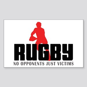 Rugby Rectangle Sticker