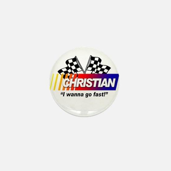 Racing - Christian Mini Button