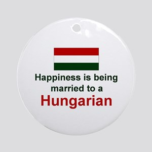 Happily Married To A Hungarian Keepsake Ornament
