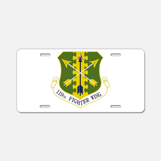 119th FW Aluminum License Plate