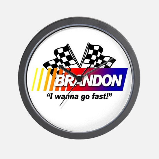 Racing - Brandon Wall Clock