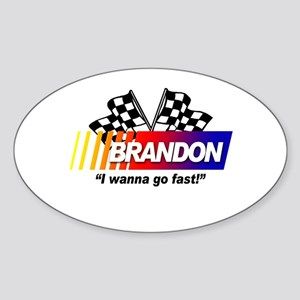 Racing - Brandon Oval Sticker