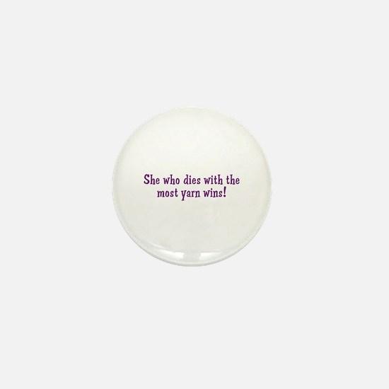 Funny Yarn Quote Mini Button