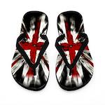 Grunge Union Jack Flip Flops