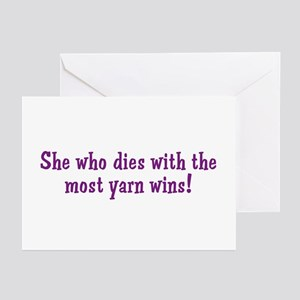 Funny Yarn Quote Greeting Cards (Pk of 10)
