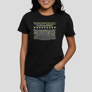 Hockey Wisdom Women's Dark T-Shirt