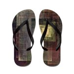 Layers of Colorful Squares Flip Flops