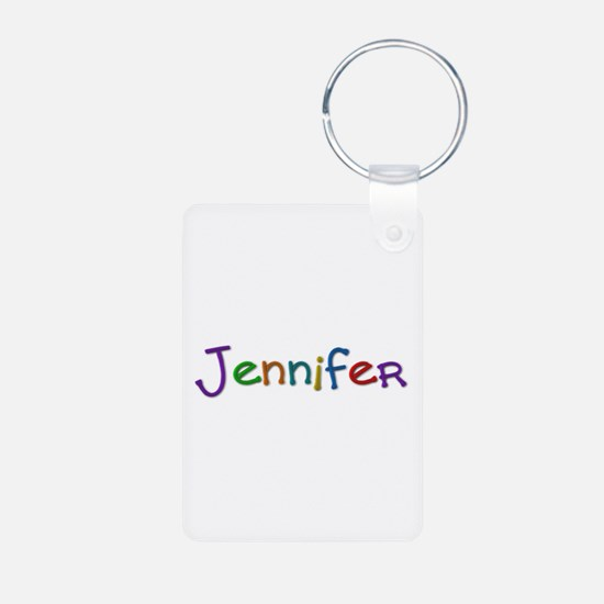 Jennifer Play Clay Aluminum Keychain
