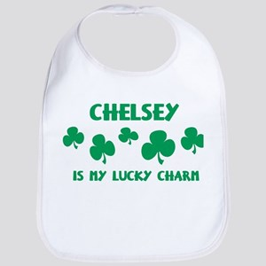 Chelsey is my lucky charm Bib