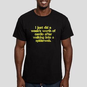 Spiderweb Cardio Men's Fitted T-Shirt (dark)