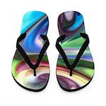 Liquid Colors Flip Flops