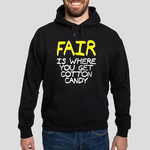 Fair is cotton candy Hoodie (dark)