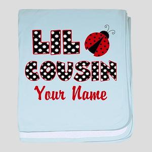Little Cousin Ladybug baby blanket