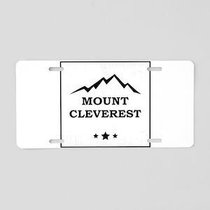Nerd Mount Cleverest Aluminum License Plate