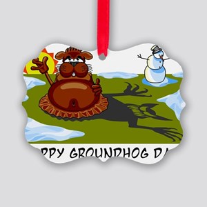 groundhogday1 Picture Ornament